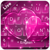 Live Pink Love Keyboard Theme 6.2.25.2019