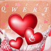 Romantic Love Heart  Keyboard Theme 6.2.2.2019