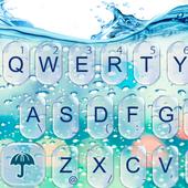 Glass Water Keyboard Theme3D Neon Keyboard ThemePersonalization