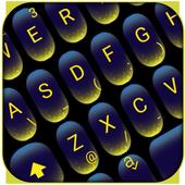 Yellow Blue Neon Light Keyboard Theme 6.3.11.2019