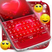 Red Hearts Keyboard Theme 1.181.1.76
