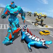 Futuristic Robot Crocodile Transforming Robot Game 1.4