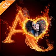 Fire Text Photo Frame 1.0