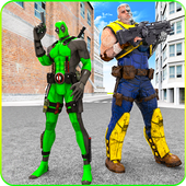 Cable Hero vs Dual Sword Pool Comic Hero combat 1.0.0