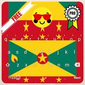 Keyboard Grenada flag Theme & Emoji 1.0.0