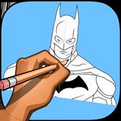 How to draw Bat hero 1.0