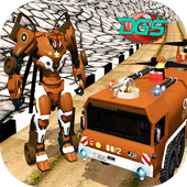 Off Road Fire Fighter Super Robot Flying Truck 1.1
