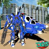 Police Helicopter Futuristic Air Robot Battle 1.3