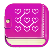 Diary with lock Pattern