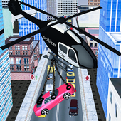 Police Helicopter: Cop Car Lifter 1.0