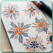 Drawing Pen Art Flowers 3.1
