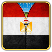 Egypt Flag Zipper UnLock 1.5