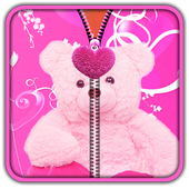 Pink Teddy Bear Zipper UnLock 1.8