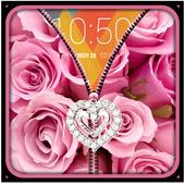 Pink Roses Zipper UnLock 2.4