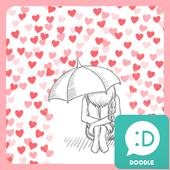 cold heart red rain 카카오톡 테마 4.1