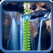 Waterfall Zipper Lock Screen 1.5