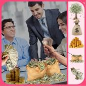 Millionaire Money Rain photo Sticker 1.0