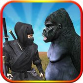 Ninja Vs Apes: Ninja Survival Game 2018 1.0