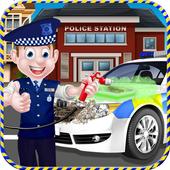 Crazy Police Car Wash Salon