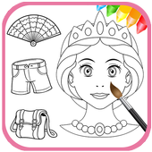 Fashion Beauty Coloring Book 2.1