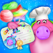 Mr. Fat Unicorn Cotton Candy Maker! DIY Cooking 1.4