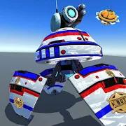 US Police Robot Shooting Crime City Game 3.1