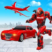 Flying Police Car Robot Hero: Robot Games 27