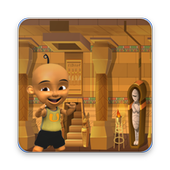Upin with Ipin on Egyptian Pyramids 1.0