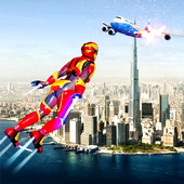 Flying Iron Superhero Man 2018-City Rescue Mission 1.0