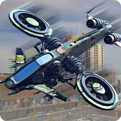 Drone Attack Shadow: Stealth Gunship Strike War 1.1