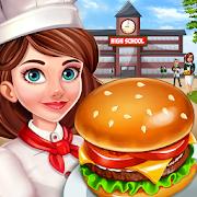 High School Café Girl: Burger Serving Cooking Game 2.2