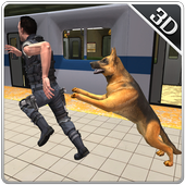 Police Subway Security Dog Sim