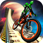 Impossible BMX Bicycle Superhero: Sky Tracks Rider 1.0