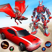Super Dragon Flying Robot Vs Wild Dinosaur Games 1.5