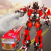 Robot Transformation Fire Truck: Real Robot Wars 1.0