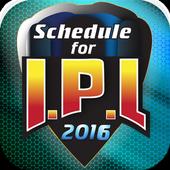 Schedule for IPL 2016 1.6