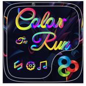 Color Run Go Launcher Theme 4.00