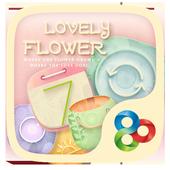 Lovely Flower GOLauncher Theme v1.0
