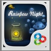 Rainbow night GO LauncherTheme v1.0