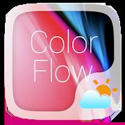 Color Flow GO Weather Widget Theme 1.0