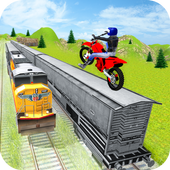 Tricky Bike Stunt On Train 1.2