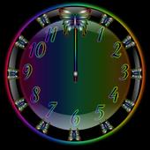 Butterfly Rainbow Clock Widget