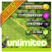 Unlimited  Cheat For COC Prank 1.0
