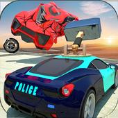 Hammer Police Man Car Drift: Crash Engine
