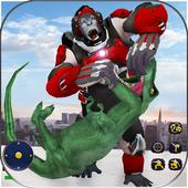 Wild Gorilla Transforming Robot: Dino Hunting Game 1.0