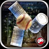 Can Knockdown 3D Tin Smash Hit Baseball Striker