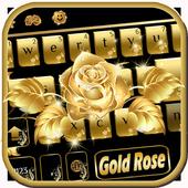 Gold rose Keyboard Theme 10002001
