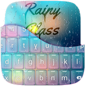 Rainy Glass Keyboard Theme 1.0