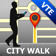 Vientiane Map and Walks 34
