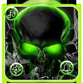 Green Neon Skull Cobweb Theme 1.1.4